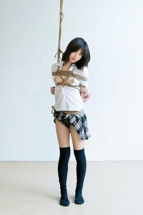 High school girl tied up