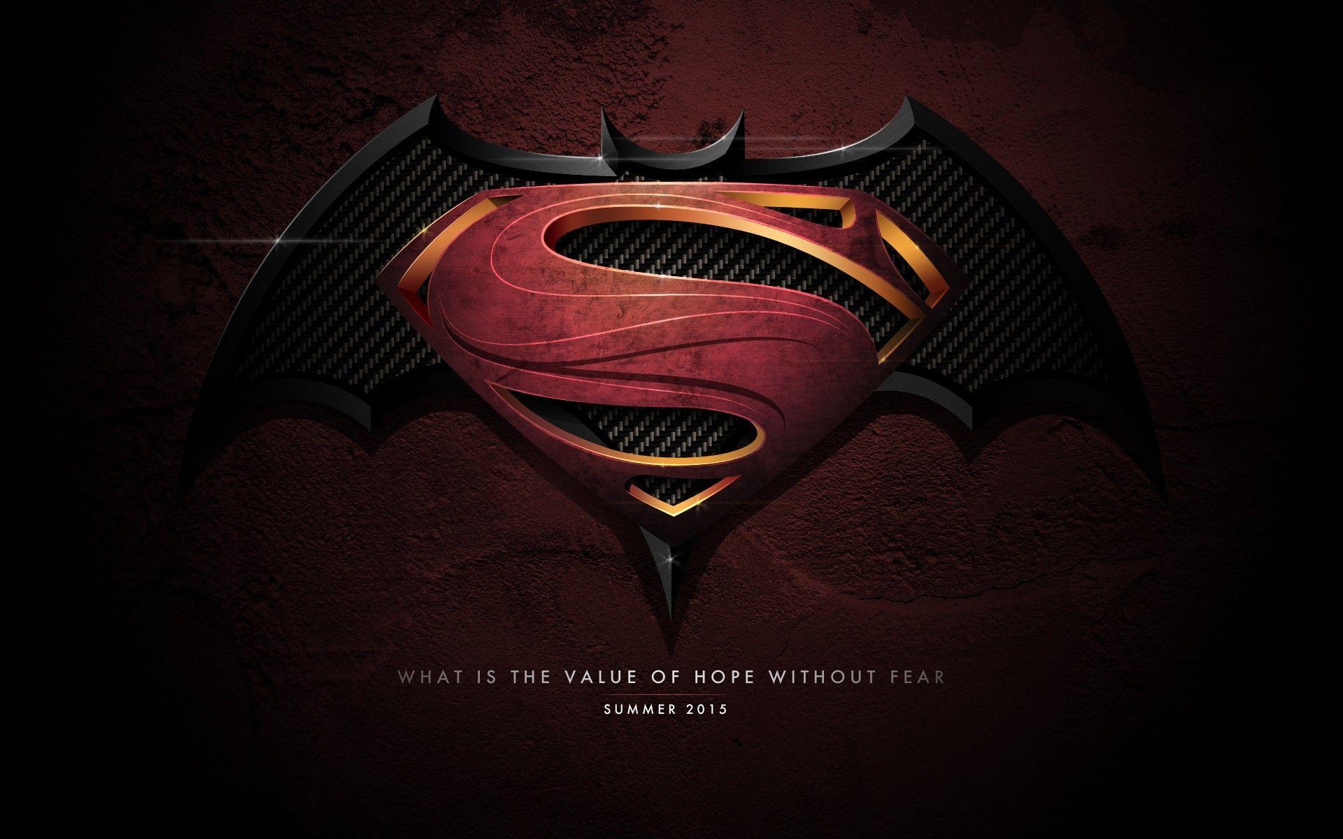 Batman Vs Superman Logo HD Wallpaper