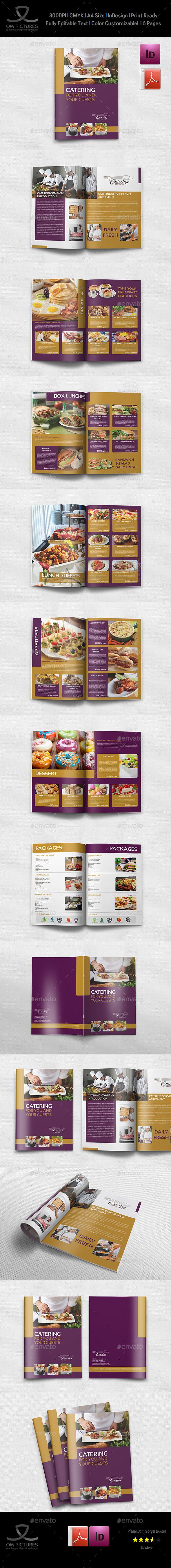 Catering Brochure Template - 20 Pages | Portafolio, Navidad y Recetas