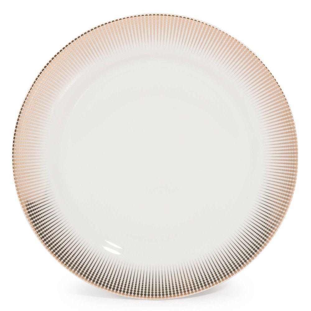 Assiette Plate En Porcelaine D 27 Cm Maisons Du Monde Assiettes Plates Vaisselle Table Maison Du Monde