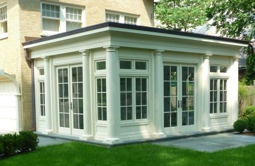 Great Sunroom Addition Notice Column Details On Outside Porch Design Traditional Porch