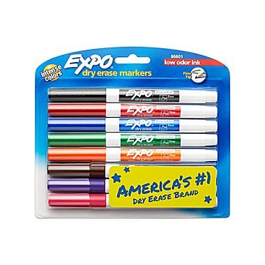 Expo Dry Erase Markers Fine Point Assorted 8 Pack 86601 Staples Dry Erase Markers Dry Erase Expo Marker
