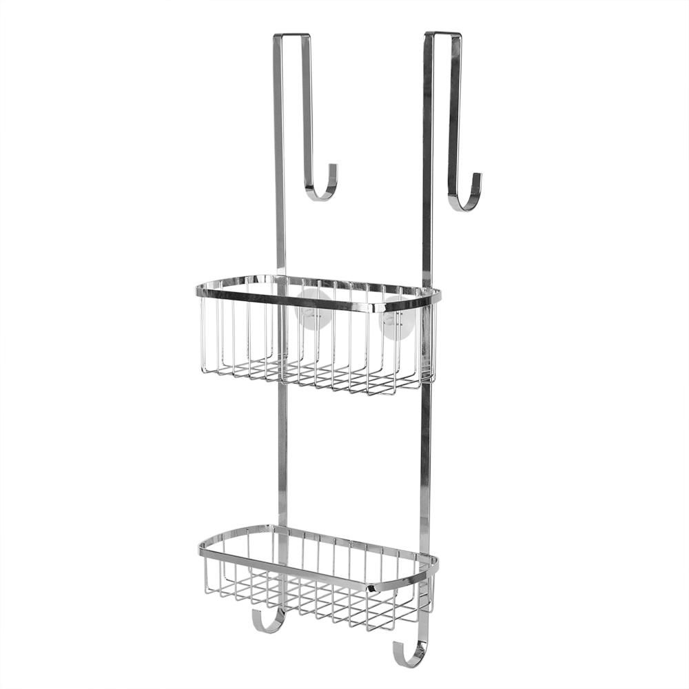 Home Basics Over The Door Shower Caddy In Chrome Sc41592 Hanging