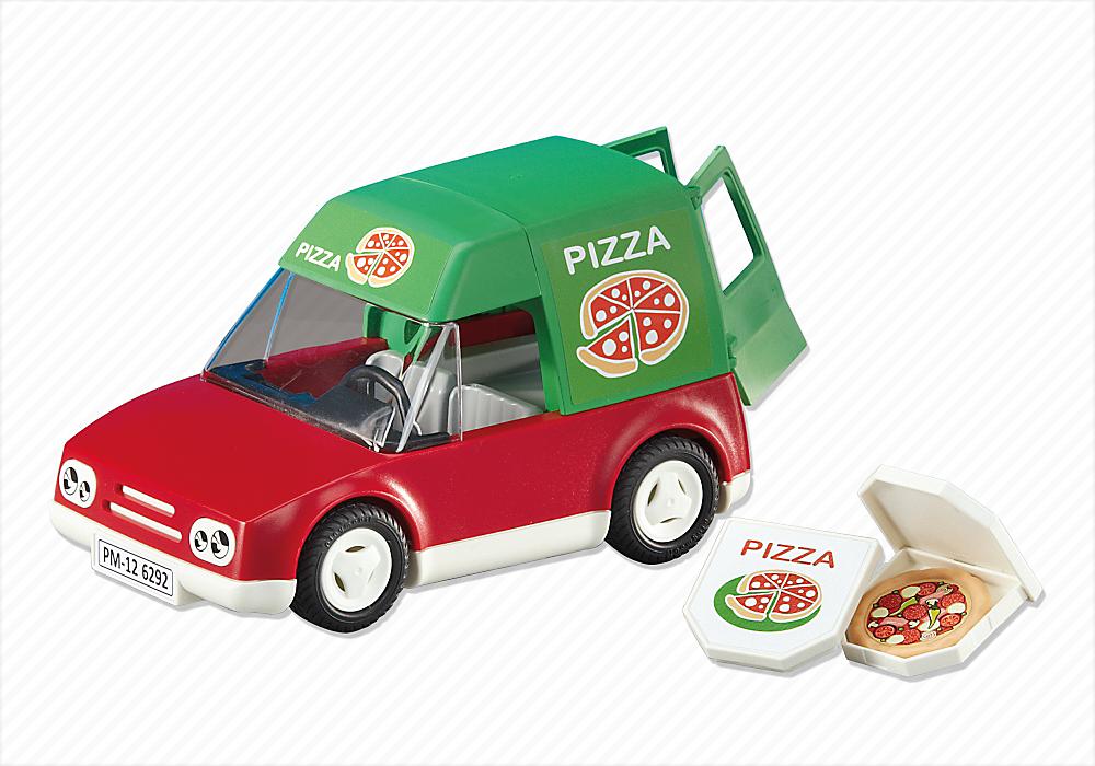 Voiture De Livraison De Pizzas 6292 Livraison Pizza Play Mobile Miniatures Pour Maison De Poupee