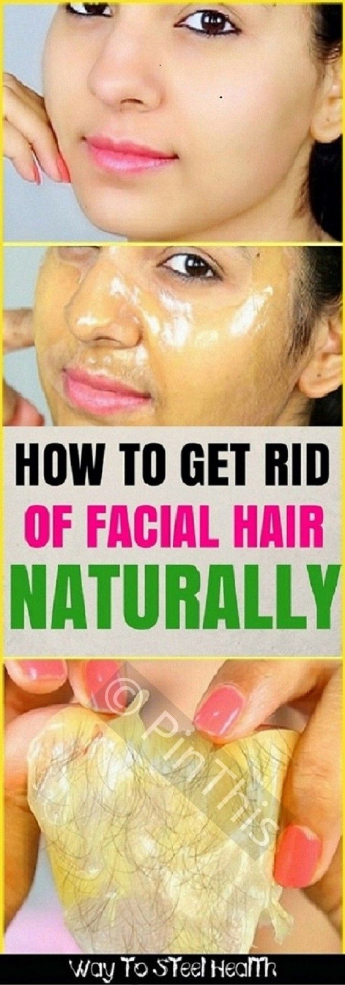 How to get rid of facial hair naturally blogger love 3 pinterest solutioingenieria Gallery