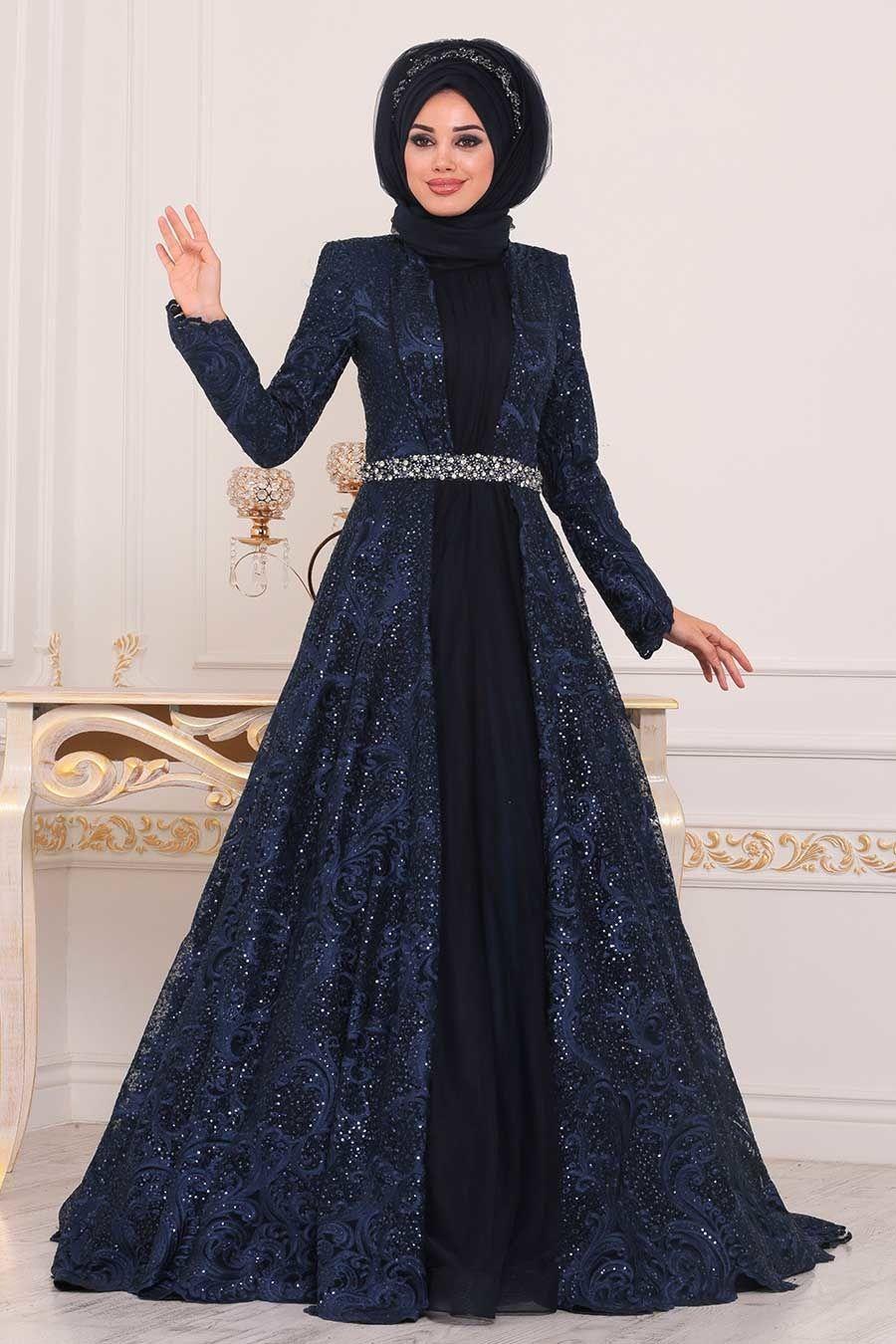Tesetturlu Abiye Elbise Tas Detayli Lacivert Tesettur Abiye Elbise 47050l Tesetturisland Com Elbise The Dress Aksamustu Giysileri