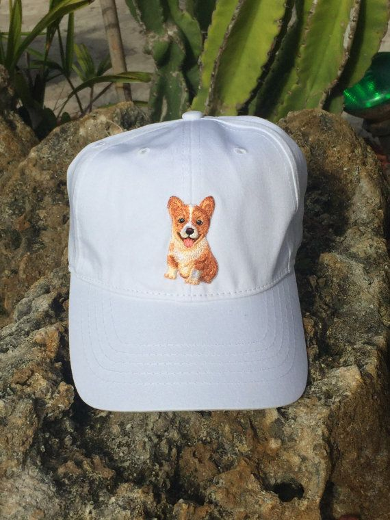 Embroidered Corgi Patch Baseball Cap Hat by PatchPerception ... 091c9a80e4d