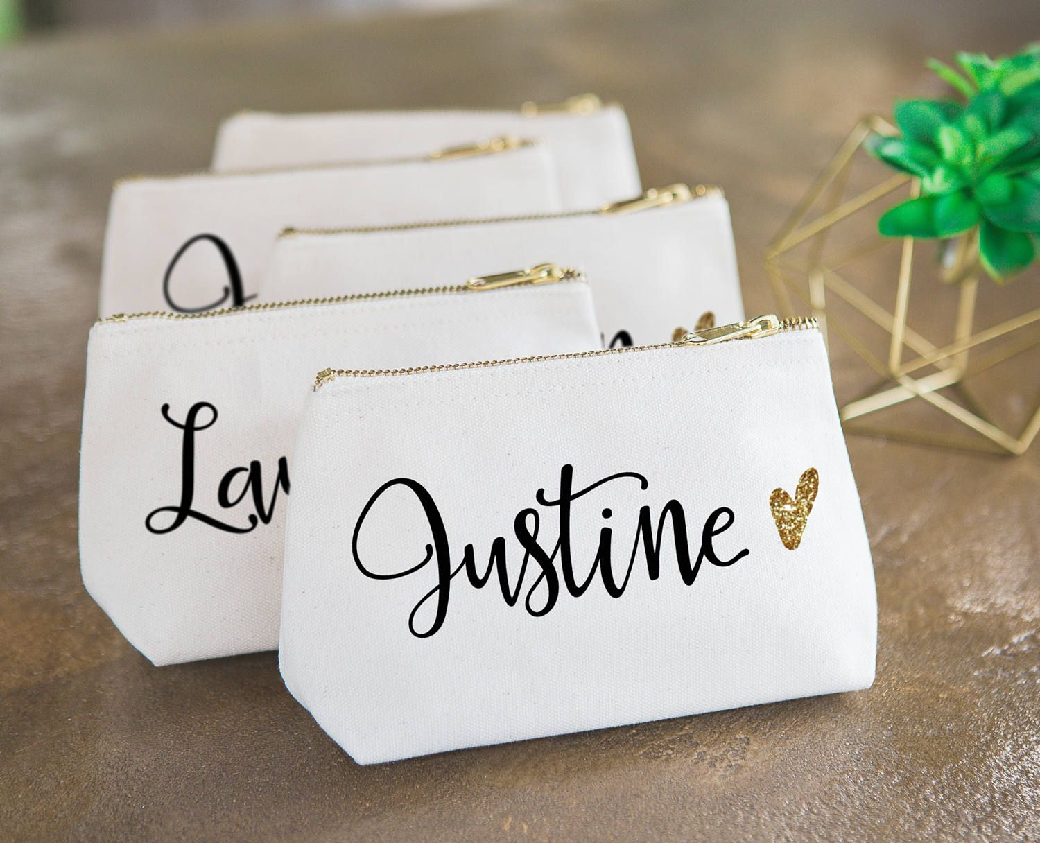 Gift your friend or bridesmaid with this pretty personalized makeup ...