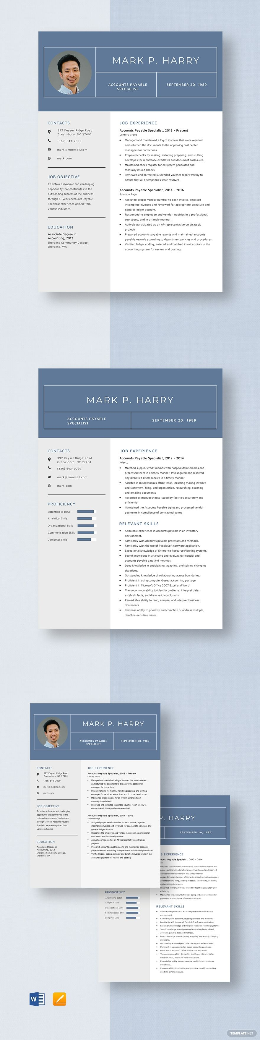 Accounts payable specialist resume template in 2020