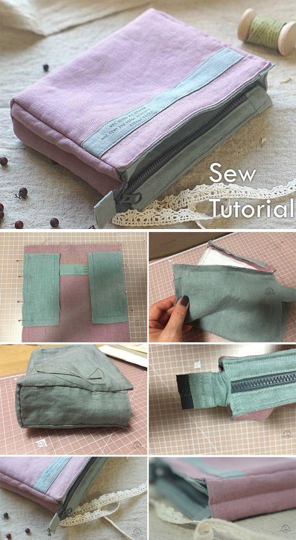 Photo of Make Up Bag Tutorial ~ Nähanleitung für Anfänger. Ideen zum Nähen. Schritt f…