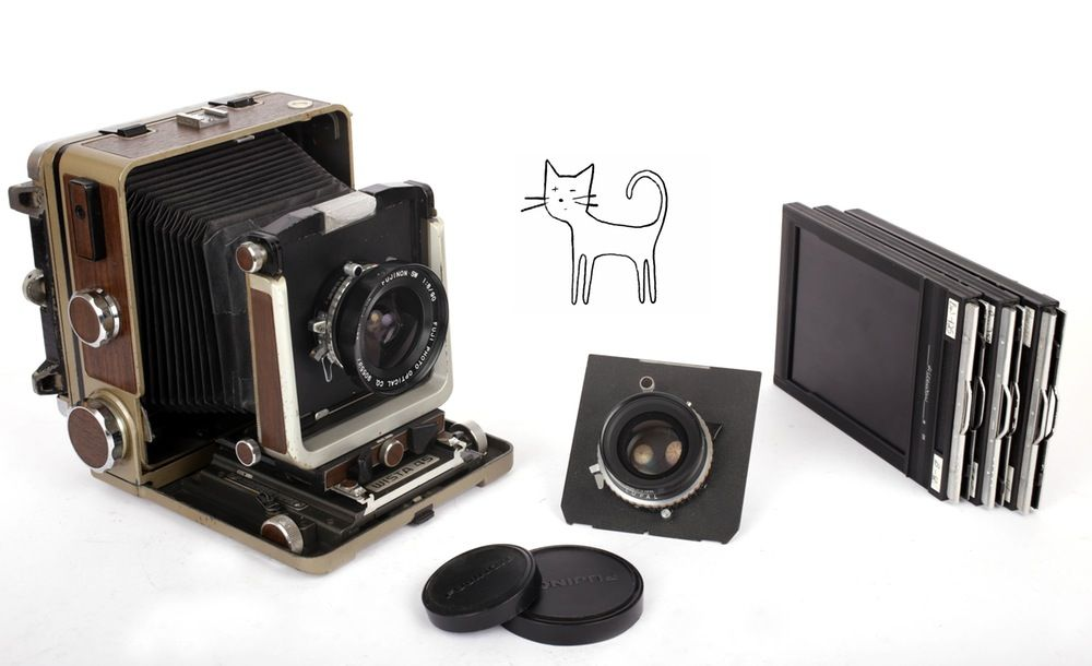 Image of Wista 45 SP 4X5 all metal field camera with 90mm + 135mm F5.6 lenses and holders