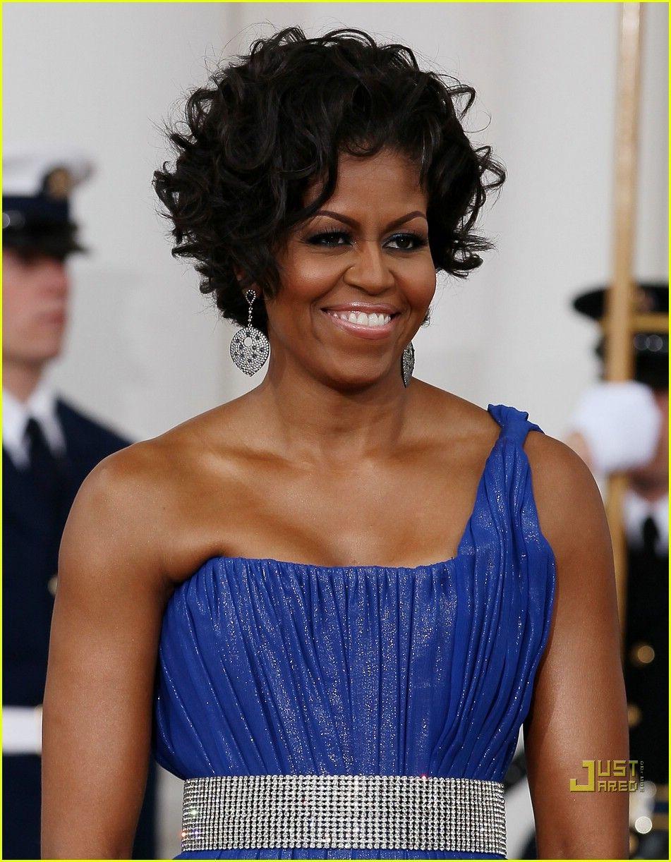 Michelle Obama Peter Sorensen Spectacular Michelle Obama Peter Sorens Curly Hair Styles Naturally Short Wavy Hairstyles For Women Short Natural Hair Styles