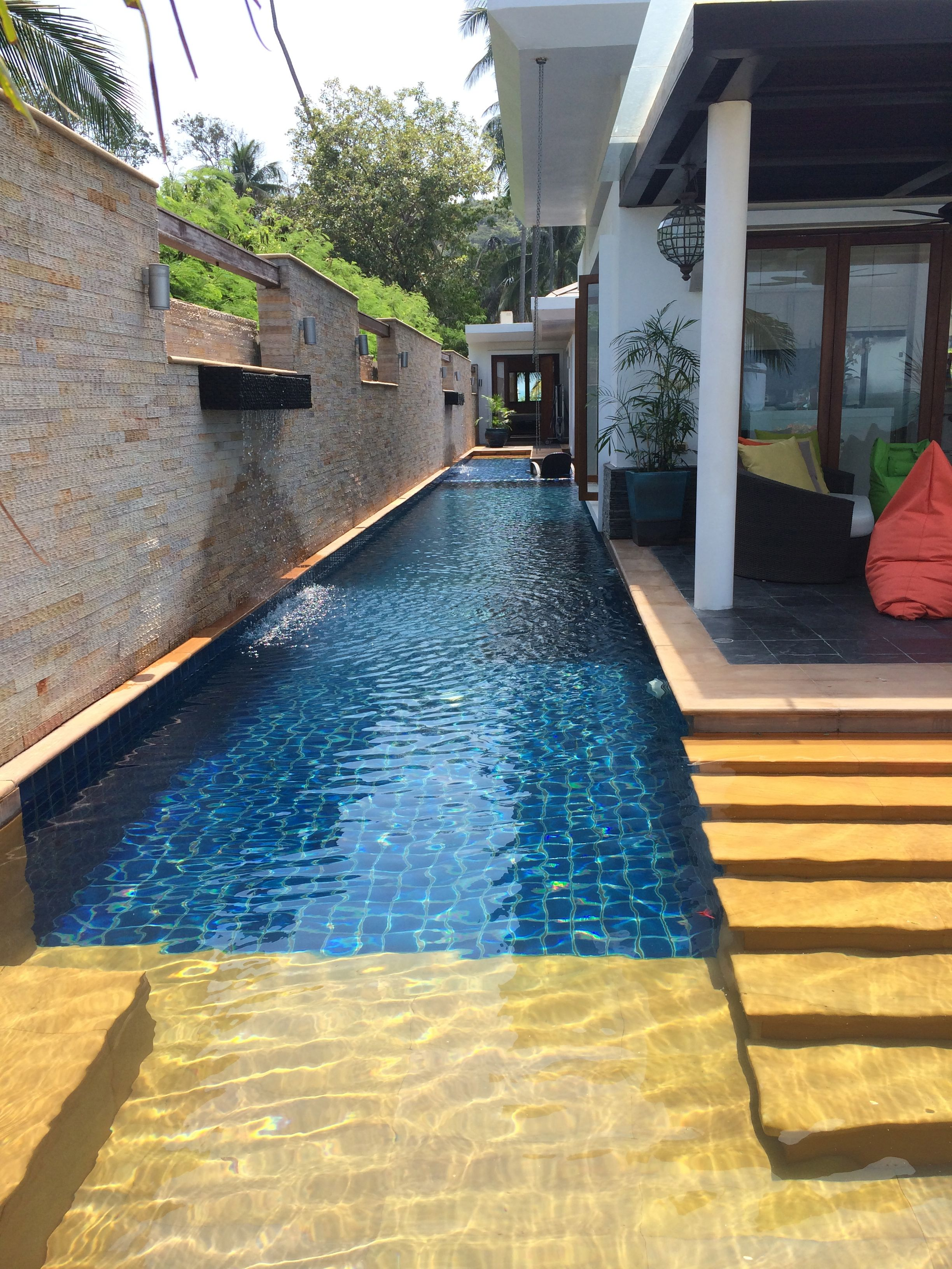 The Private 25m Pool With Sections For Jacuzzi And Children S Playpool Pool Houses Container Pool Swimming Pools