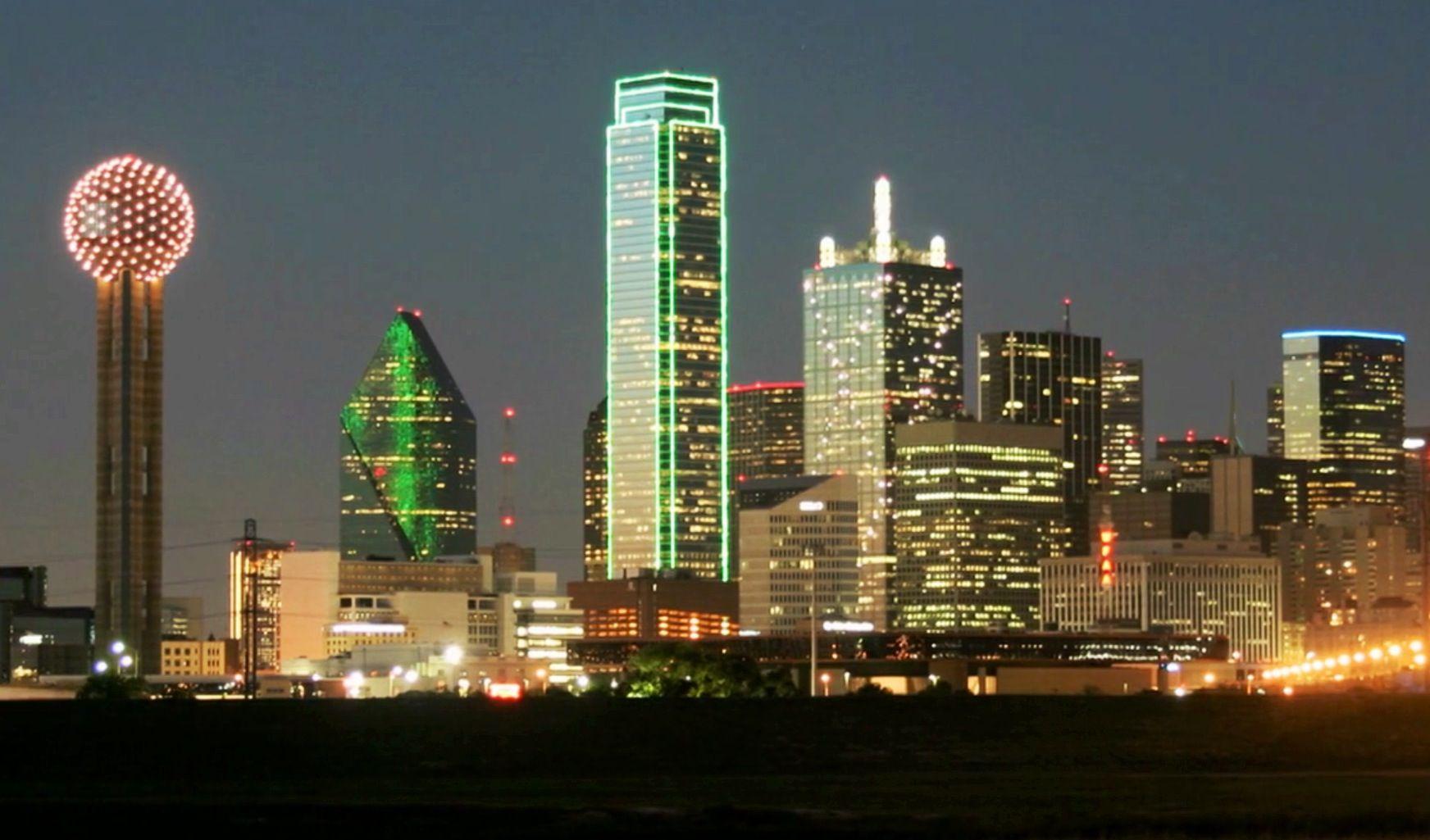 Dallas tx skylinea restaurant in in the big ball of