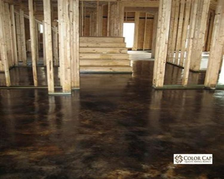 black stained concrete floors. concrete stain  Flooring Concrete Coatings Overlays Acid Stain