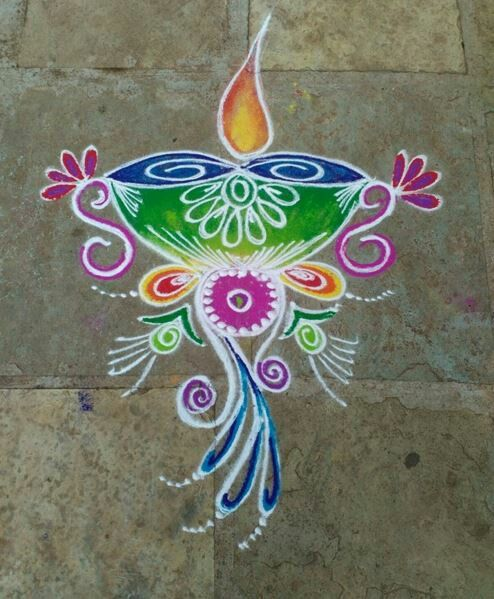 Take A Look At These Easy And Simple Rangoli Designs They Can Be Easily Made Home Try To Make For Festivals
