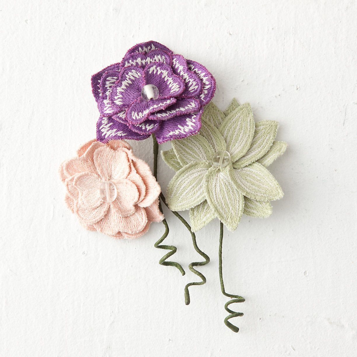 Embroidered Flower Gift Toppers in Sale SHOP New to Sale at Terrain