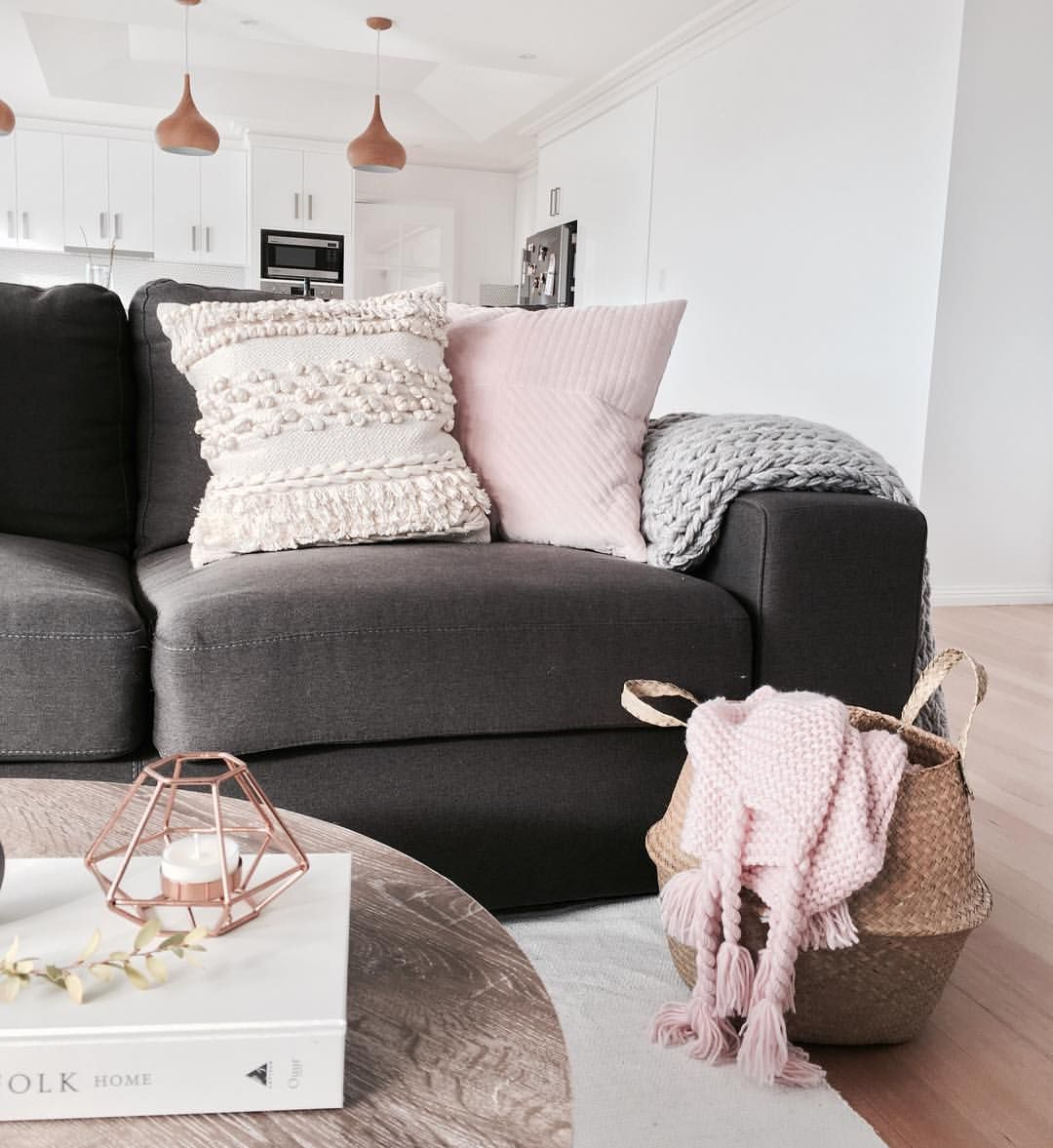 stylingbytiffany on instagram  living space  couch  pastel tones  scandi boho  pink white grey