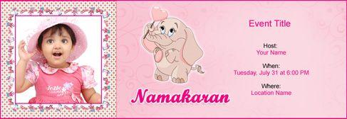 Online Baby Naming  Namakaran Invitation  Kcmclmka
