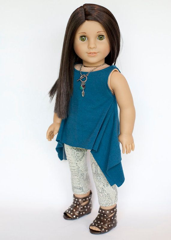 American Girl Doll outfit blue tunic snake by EverydayDollwear