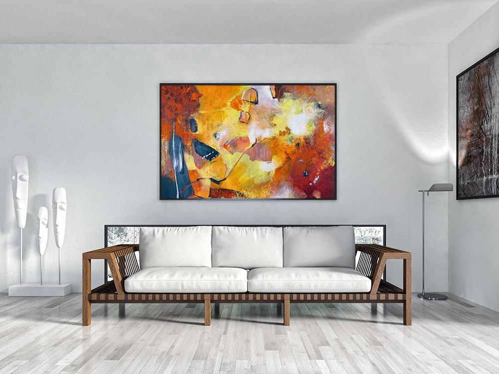 Abstract art / handmade painting for living room