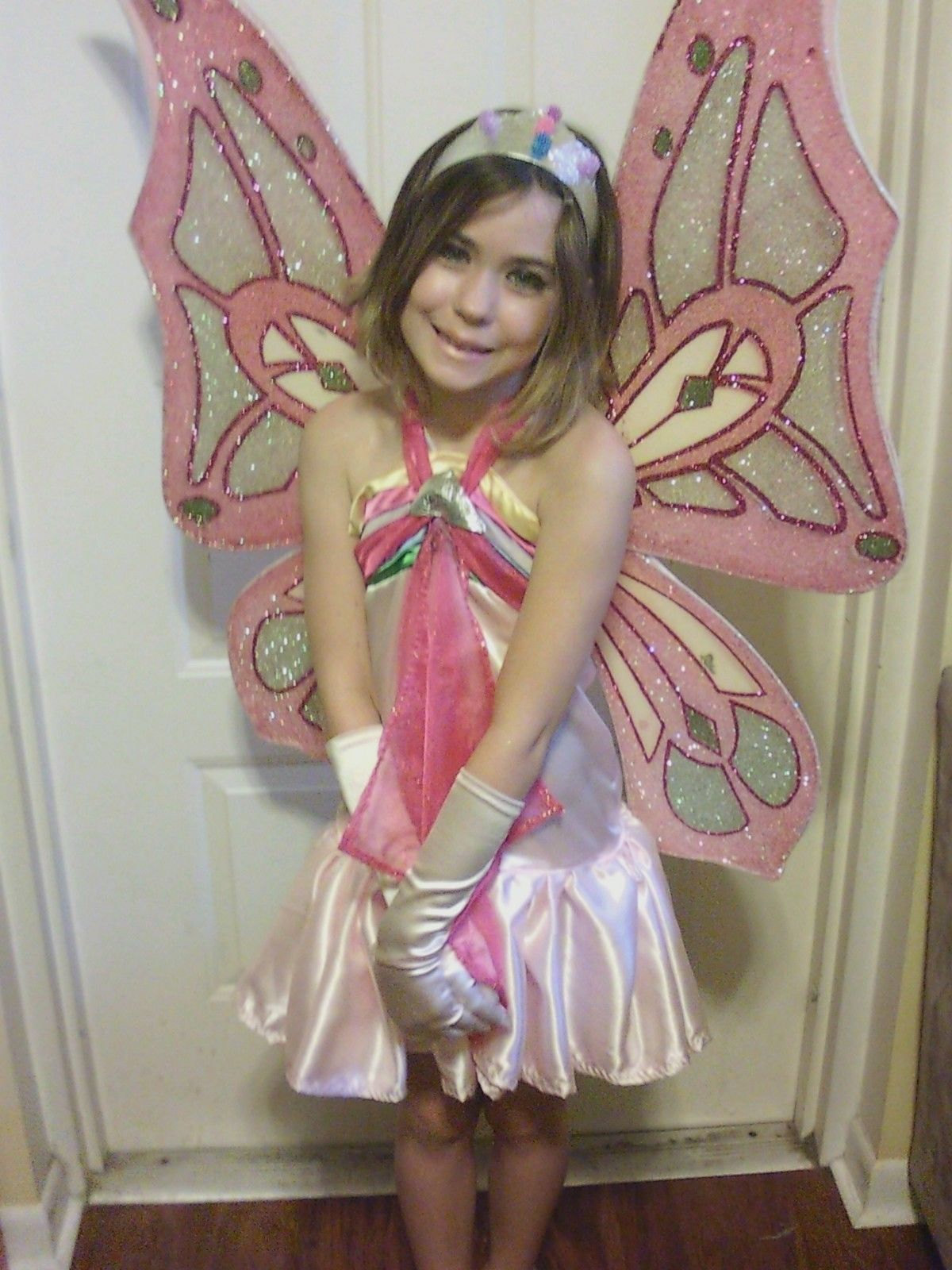 Winx style flora enchantix dress for year old costume cosplay