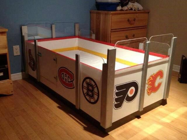 Coolest Bed Ever Hockey Bed Frame Hockey Room Hockey Bedding Hockey Bedroom