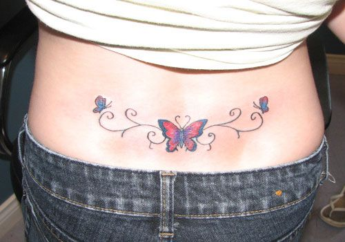 8712a71c8 Lower Back Butterfly Tattoos For Women | 25 Tremendous Lower Back Tattoos  For Women | CreativeFan