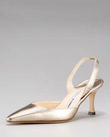 949732ff4ca8c Manolo Blahnik Napa Mid-Heel Halter Pumps - Evening shoes  www.finditforweddings.com wedding shoes