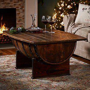 Photo of Handmade Vintage Oak Whiskey Barrel Coffee Table