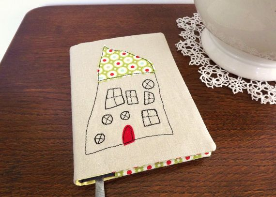 Personalised Embroidered Fabric Notebook with Child's Artwork by RaspberryButton