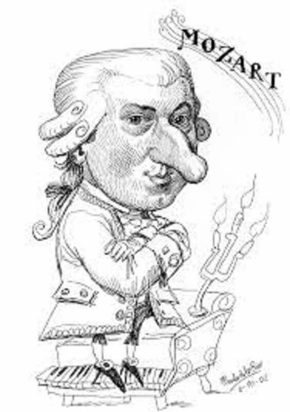 Wolfgang Amadeus Mozart (Salzburgo-Austria, 1756 ~ Viena, 1791) by Pablo  Morales de los Rios | Dibujos, Caricaturas, Música antigua