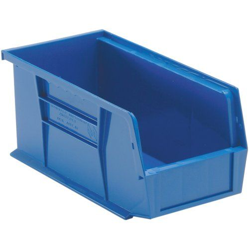 Edsal Pb8502b High Density Stackable Plastic Bin 5 Width X 5 Height X 11 Depth Blue Pack Of 12 Stackable Plastic Storage Bins Storage Bins Plastic Storage Bins