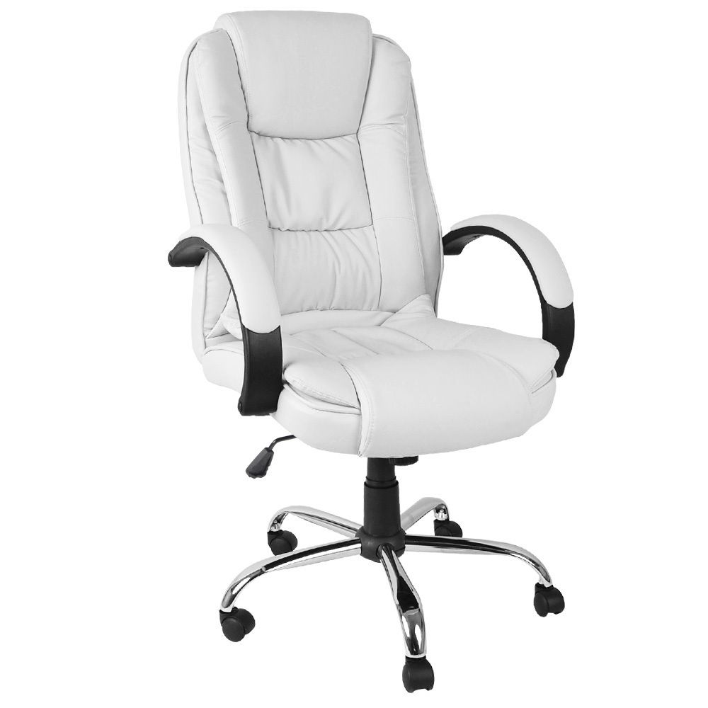 White Padded Office Chair Custom Home Furniture Check More At Http