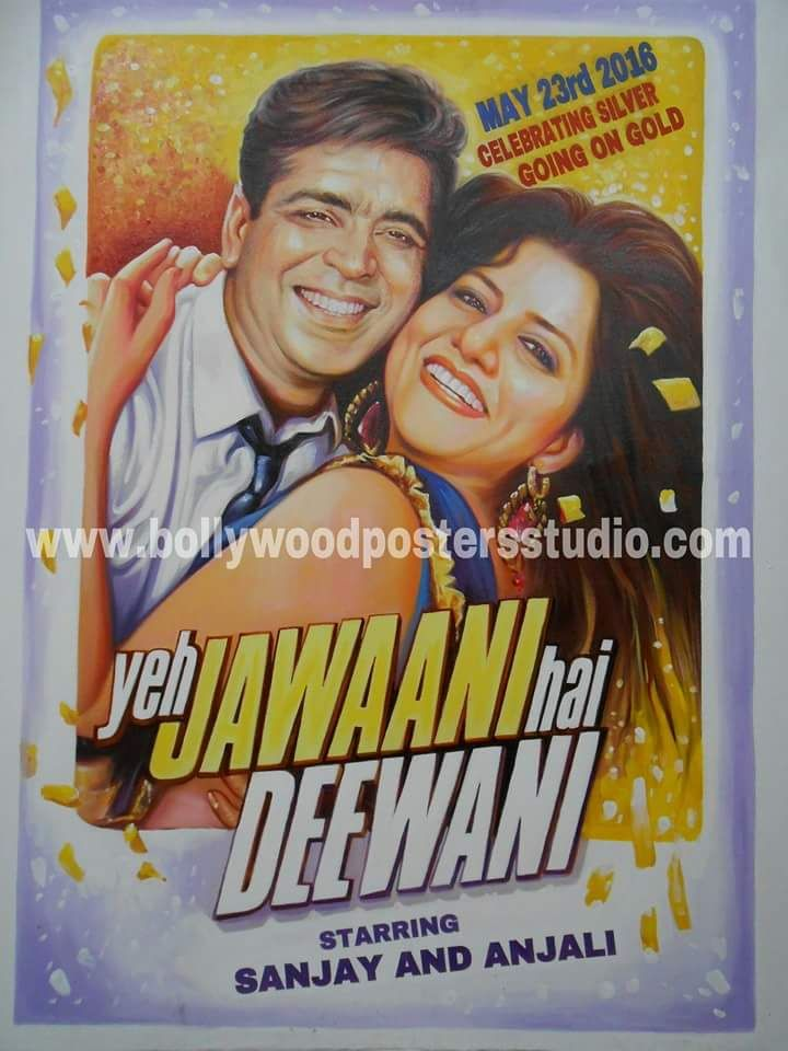 Custom gift in bollywood themed bollywood posters
