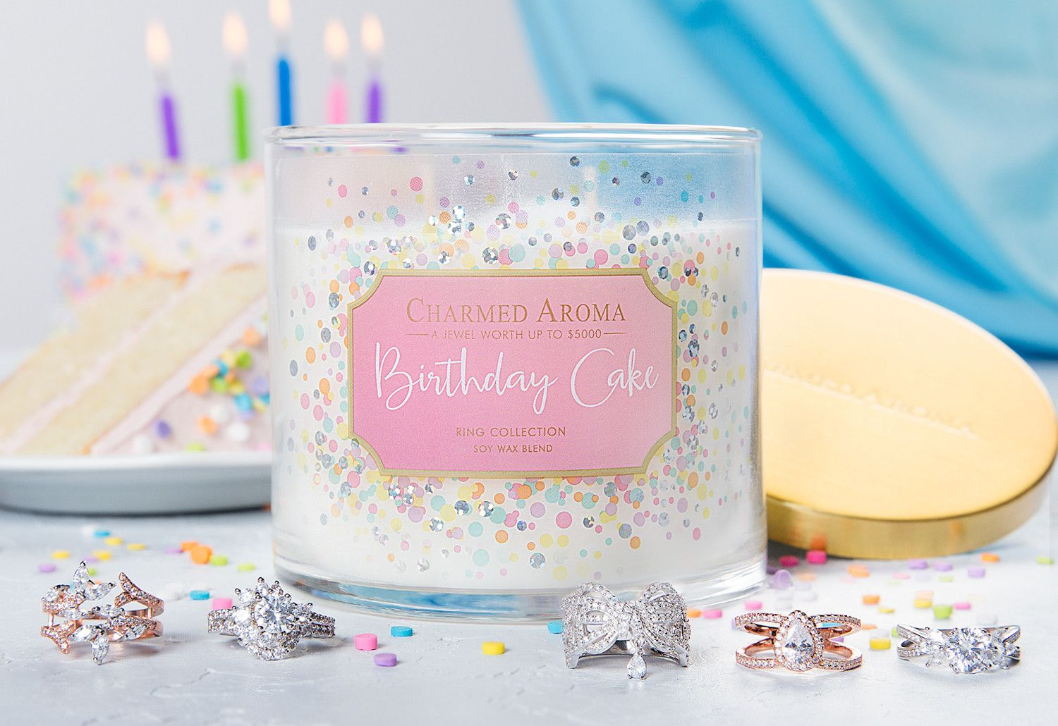 JewelryShippingFragranceIt's time to celebrate! Enjoy the scent of freshly baked vanilla cake topped with rich buttercream frosting and sprinkles! The perfect blend of creamy vanilla, brown sugar and warm milk is so sweet you can almost taste it. Be in the party spirit all year long with this 'fu...