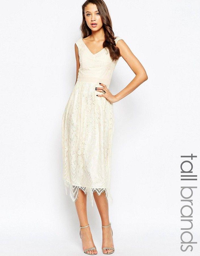 Little Mistress Scallop Neck Lace Dress | Simply Be
