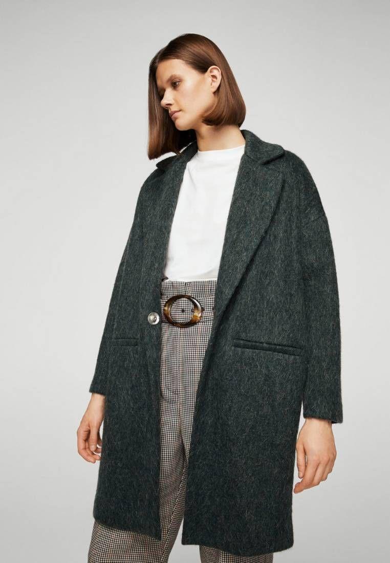 Klassischer mantel wolle