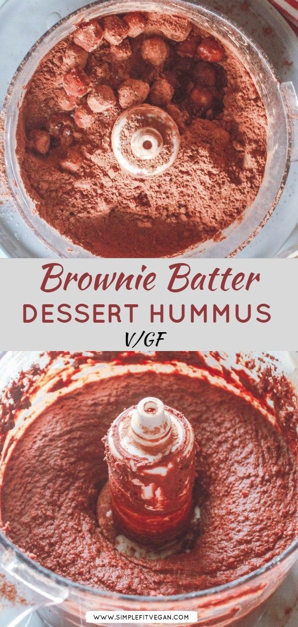 Brownie Batter Dessert Hummus - SimpleFitVegan