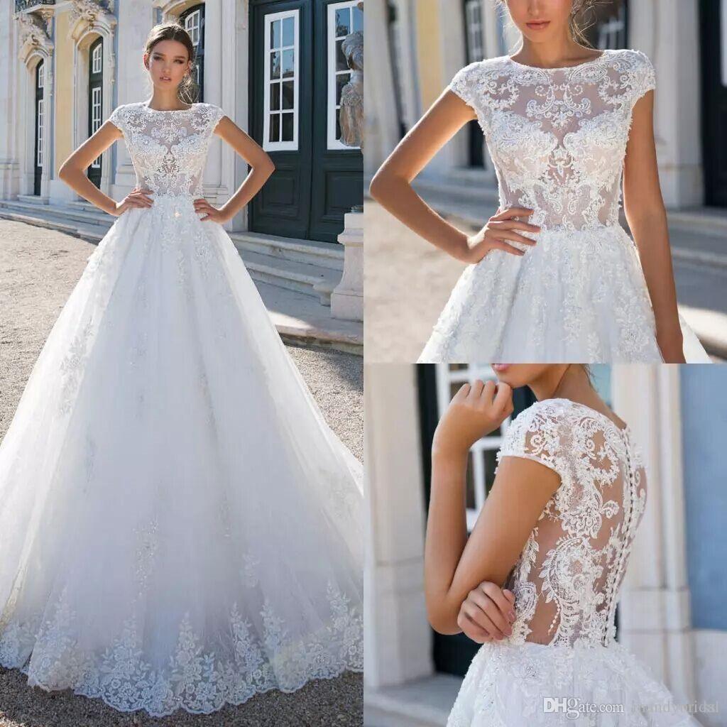 new milla nova lace wedding dresses jewel neck saudi arabia