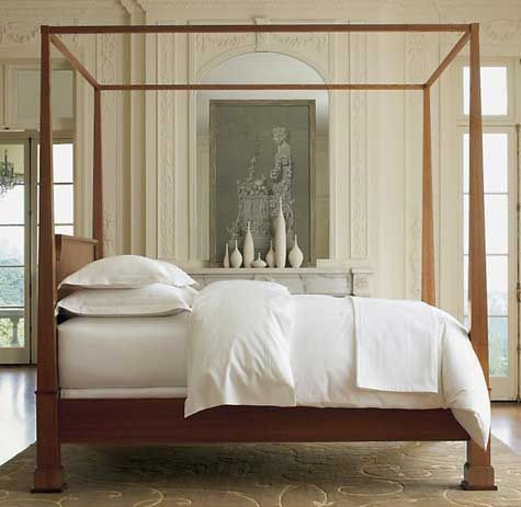 Contemporary Four Poster Bed turner' four poster canopy bed in natural cherryrestoration