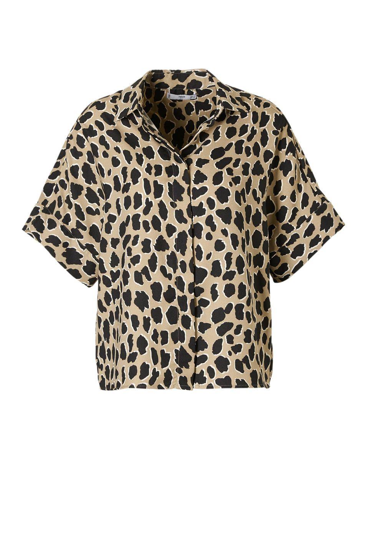 18fa0fac2b0 Mango top met panterprint bruin #wehkamp #panterprint #blouse  #luipaardprint #dierenprint #