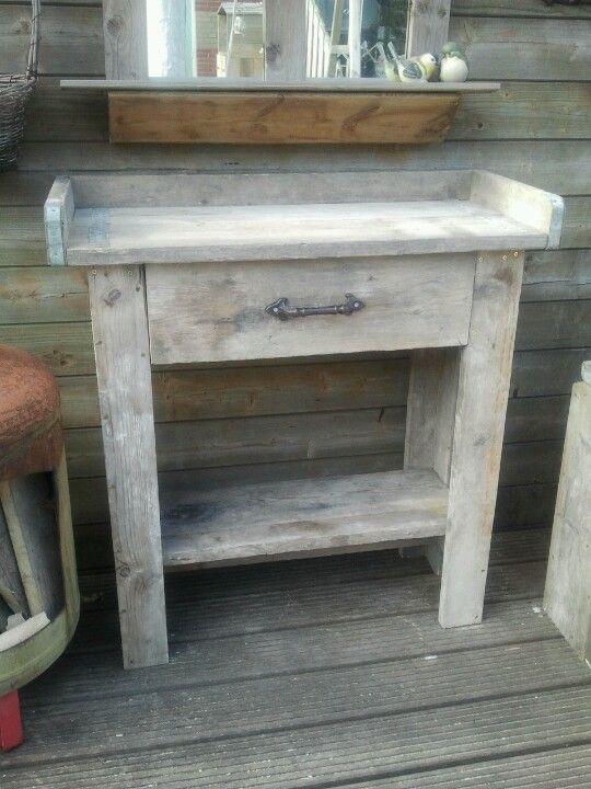 Steiger houten oppottafel tuin ideeen pinterest houten meubels tuin decoratie en tuin - Ontwerp tuin decoratie ...