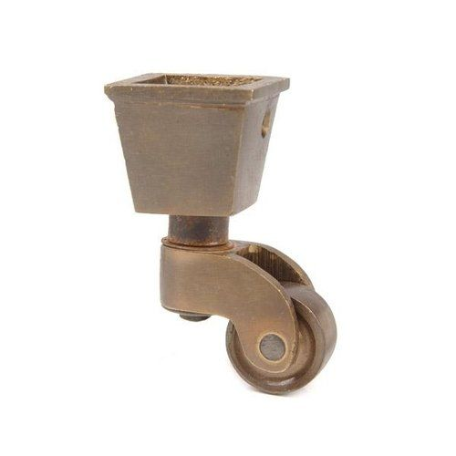 Restorers Solid Brass Square Cup Caster 3 4 Inch Wheel