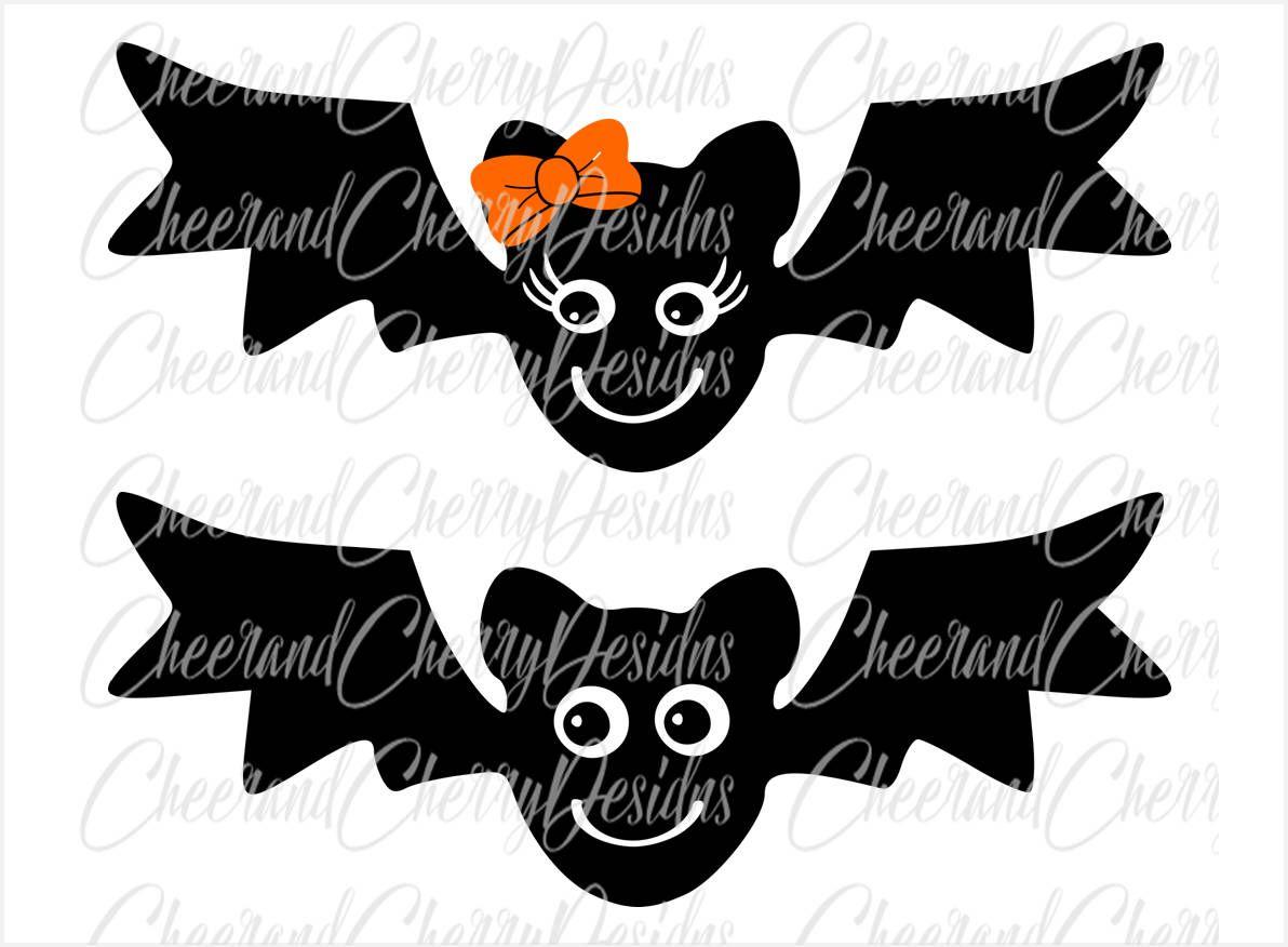 Cute Bat Svg Halloween Svg For Girl Boy Halloween Monogram Svg Bat