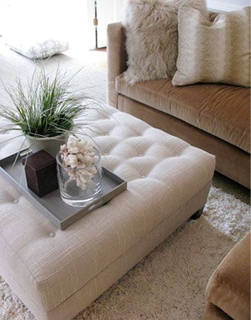 This Is What I Mean By An Otterman Coffee Table Ali You Just Put A Tray On It It S Also For Yo Ottoman In Living Room Sectional Ottoman Formal Living