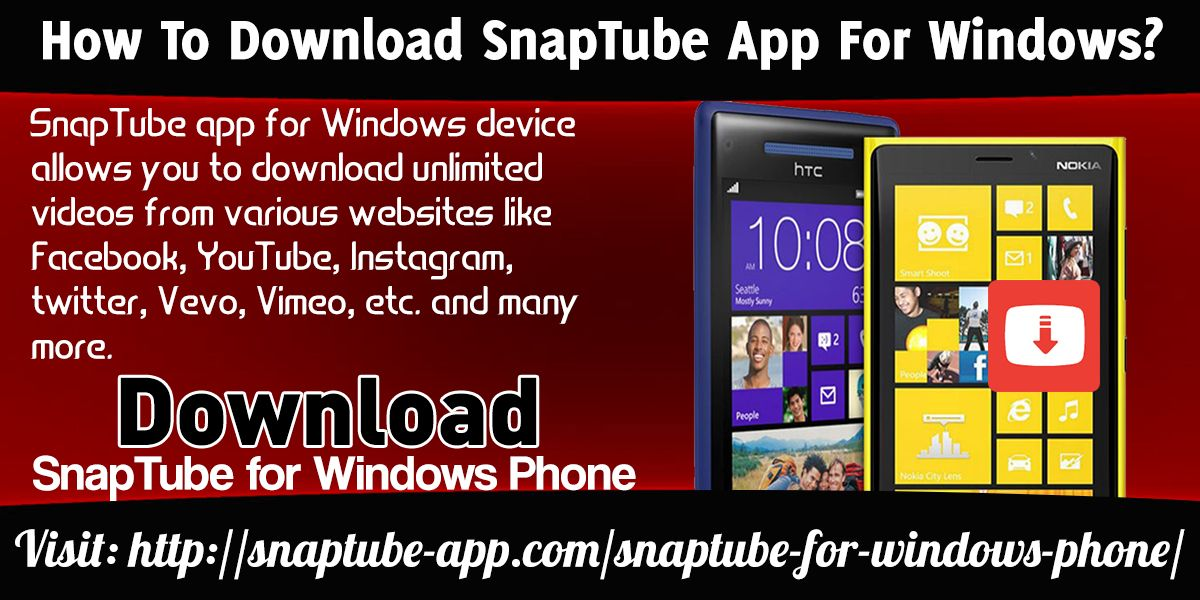 SnapTube app for Windows device allows you to download