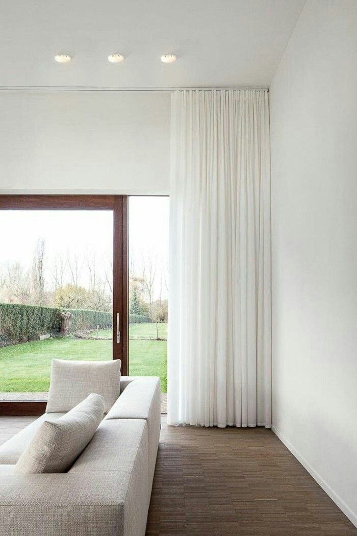 Curtains Hung At Ceiling Height Curtains Living Room Curtains