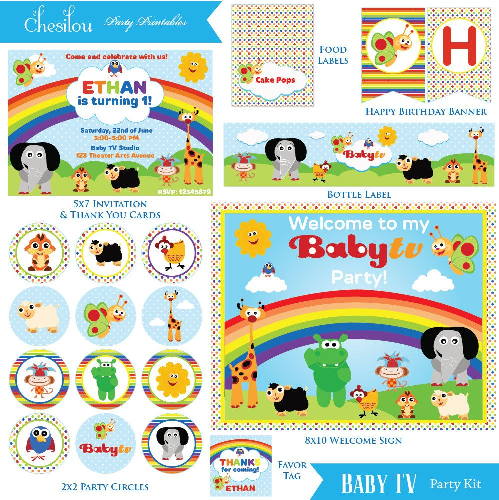 Charlie Y Los Numeros Baby First Tv Online Invitations Birthday 3rd