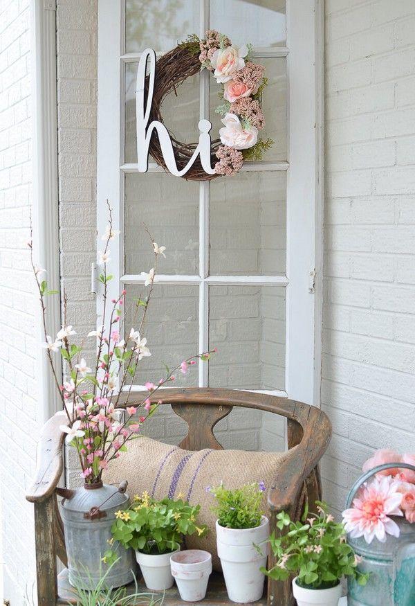 Photo of Rustikale Frühling Veranda Dekor Ideen, um Ihr Zuhause zum Blühen zu bringen